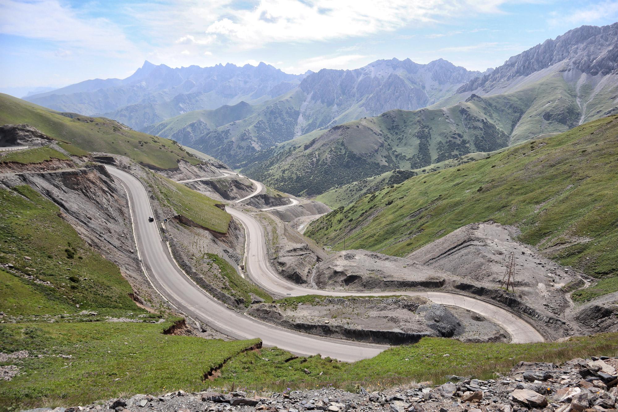 Reisroute Kirgizië - Taldyk Pass