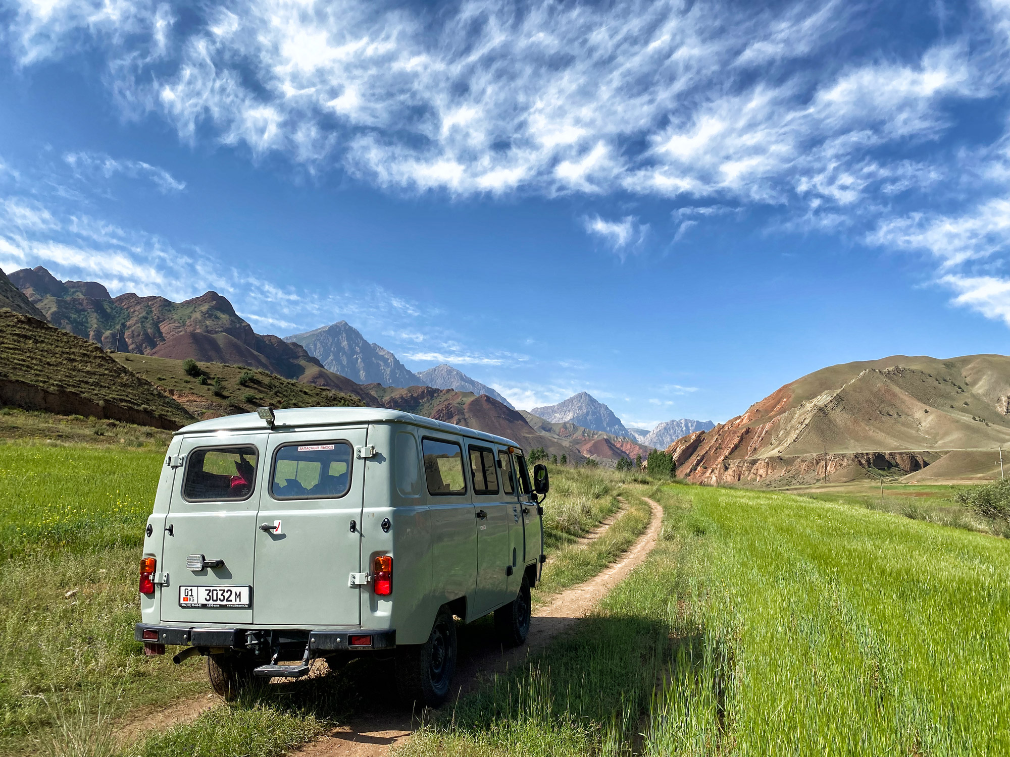 Reisroute Kirgizië - Yrgayti