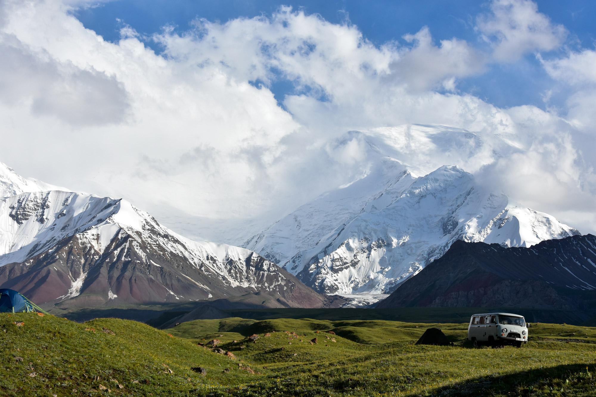 Reisroute Kirgizië - Lenin Peak
